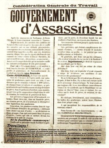 """Résultat de recherche d'images pour """"clemenceau briseur de grèves courrieres"""""""